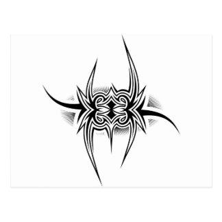 Tätowierungs-Stammes- Entwurf Postkarte
