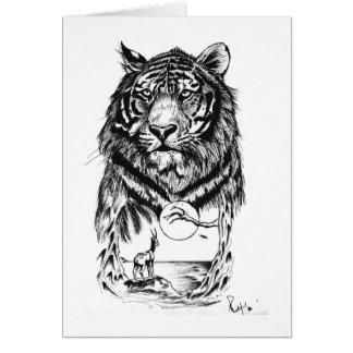 Tätowierungs-Tiger-Kunst Karte