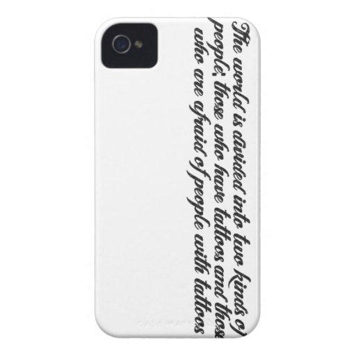 Tätowierungs-Zitat iPhone Fall iPhone 4 Case-Mate Hüllen