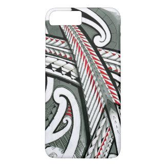 Tätowierungsentwurfs-Insel hawai der polynesischen iPhone 8 Plus/7 Plus Hülle