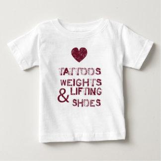 Tätowierungsgewichtsschuhe weiblich baby t-shirt