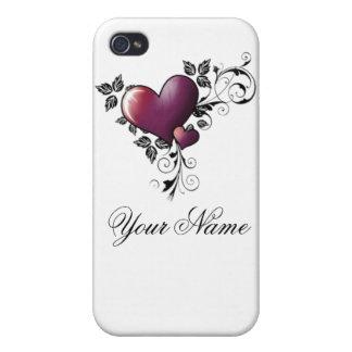 Tätowierungsherz w/name iPhone 4 case