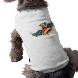 Tätowierungsherz wings Hundeshirt Shirt