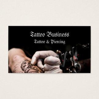 Tätowierungskünstler-Salon Visitenkarte