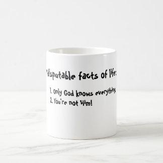 Tatsachen des Lebens Kaffeetasse