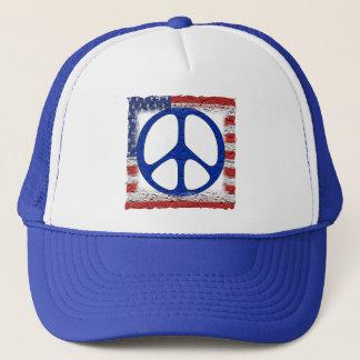 Tattered Friedensflagge Truckerkappe