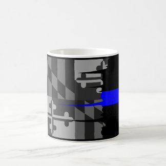Tattered Maryland-Flaggen-dünn blaue Linie Tasse