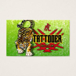 Tattooer Tiger Visitenkarten
