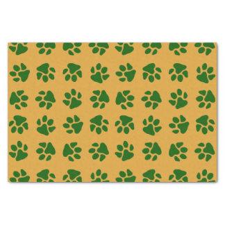 Tatze druckt Grün Seidenpapier