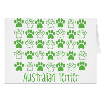 Tatze durch Tatze australisches Terrier Karte
