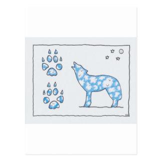 TATZEN DES HIMMEL-WOLF-ZWEI, durch Ruth I. Rubin Postkarten