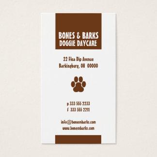 Tatzen-Druck-Hundesorgfalt-Visitenkarte Visitenkarten