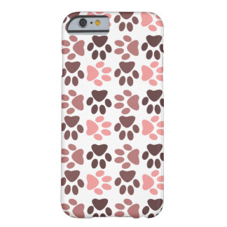Tatzen-Druck-Muster - einfarbige Farbe Barely There iPhone 6 Hülle
