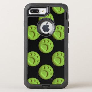 Tatzen-Druck-Punkt - Grün OtterBox Defender iPhone 8 Plus/7 Plus Hülle