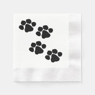 Tatzen-Drucke für Tierliebhaber Serviette