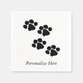 Tatzen-Drucke für Tierliebhaber Servietten
