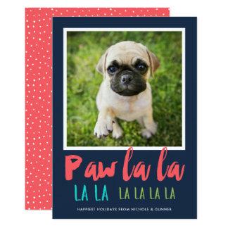 Tatzen-La-La-Haustier-Foto-Feiertags-Karte 12,7 X 17,8 Cm Einladungskarte