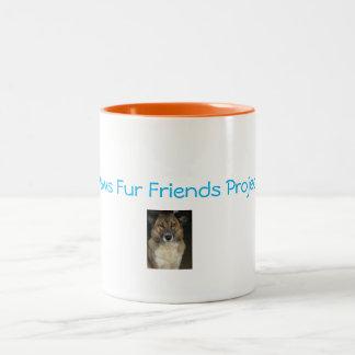 Tatzen-Pelz-Freund-Projekt-Tasse Zweifarbige Tasse