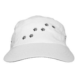 Tatzendrucke einer Katze Headsweats Kappe