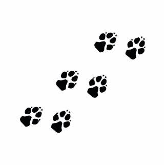 Tatzendrucke eines Hundes Fotoskulptur Button