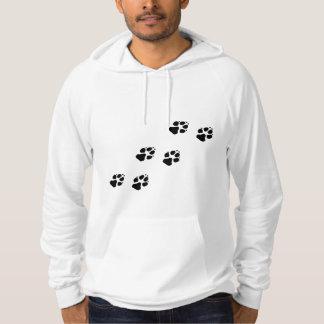 Tatzendrucke eines Hundes Hoodie