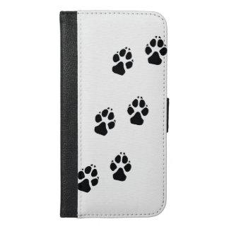 Tatzendrucke eines Hundes iPhone 6/6s Plus Geldbeutel Hülle