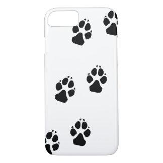 Tatzendrucke eines Hundes iPhone 8/7 Hülle