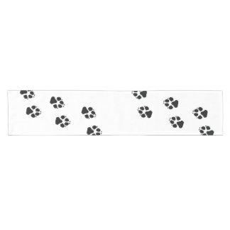 Tatzendrucke eines Hundes Kurzer Tischläufer