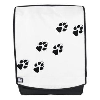 Tatzendrucke eines Hundes Rucksack