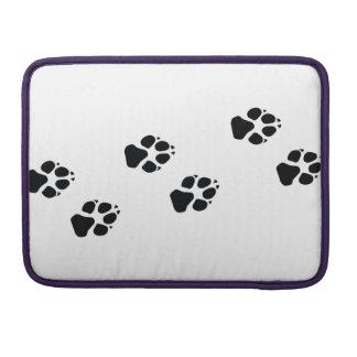 Tatzendrucke eines Hundes Sleeve Für MacBook Pro