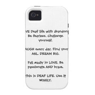 Taub leben Lachen-Liebe iPhone 4/4S Case