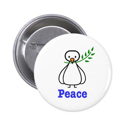 Taube des Friedens Anstecknadelbutton