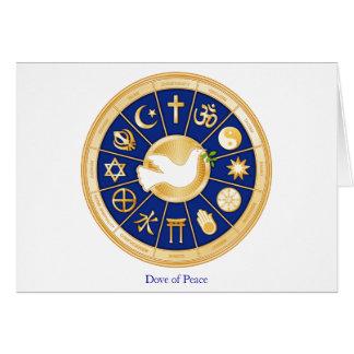 Taube des Friedens Karte