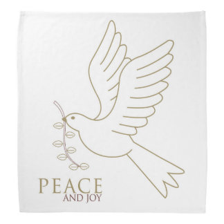 Taube des Friedens Kopftuch