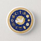 Taube des Friedens Runder Button 5,1 Cm