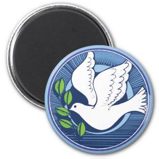 Taube des Friedens Runder Magnet 5,1 Cm
