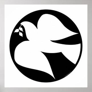 Taube des Friedenszeichens Plakat