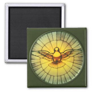 Taube des Heiliger Geist Quadratischer Magnet