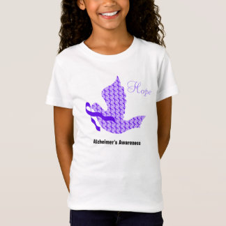 Taube des Hoffnungs-lila Bandes - Alzheimer T-Shirt