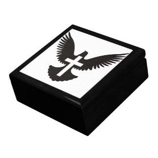Taube mit Kreuz Erinnerungskiste