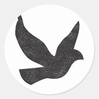 Taube Runder Aufkleber