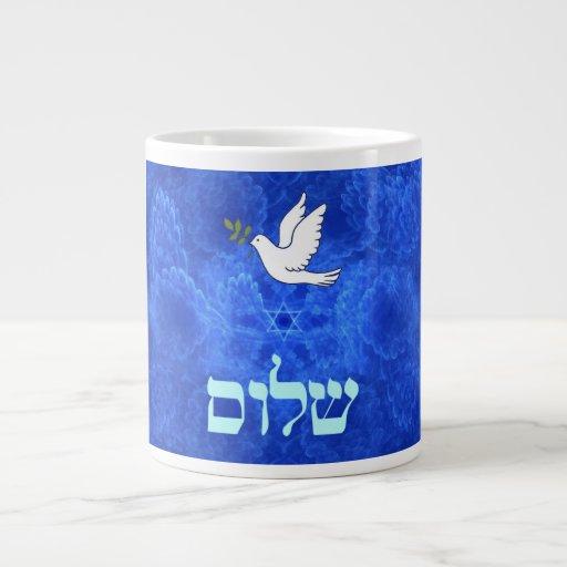 Taube - Shalom Extragroße Tassen