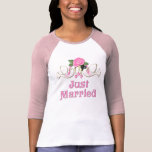 Taube u. Rose - gerade verheirateter T - Shirt