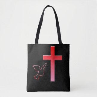 Taube und Kreuz Tasche