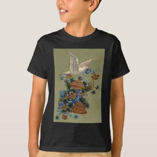 Taube vergessen mich nicht vierblättriges T-Shirt