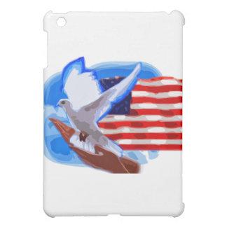 Taube vor amerikanischer Flagge iPad Mini Hülle