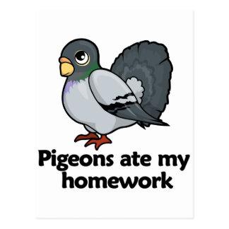 Tauben aßen meine Hausaufgaben Postkarte
