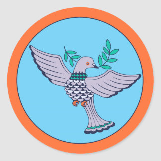 Tauben-Aufkleber-Blatt (6) Runder Aufkleber