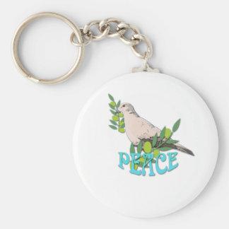 Tauben-Frieden Schlüsselanhänger