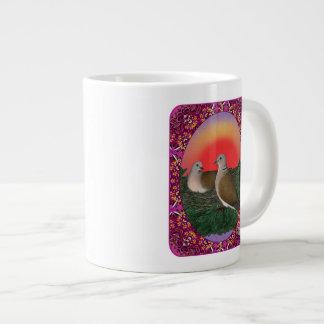 Tauben gerahmt Jumbo-Mug